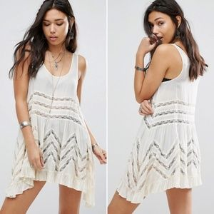 Intimately Free People Voile And Lace Slip Dress